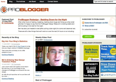 The New Problogger.net