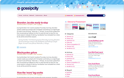 Gossip City WordPress Theme