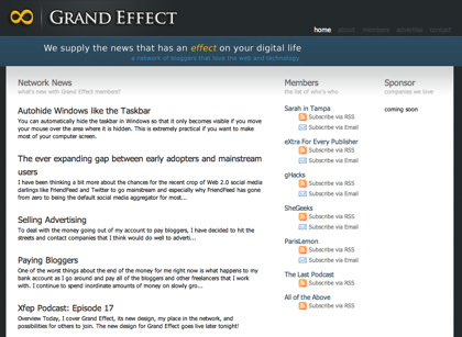 Welcome the New Grand Effect Site