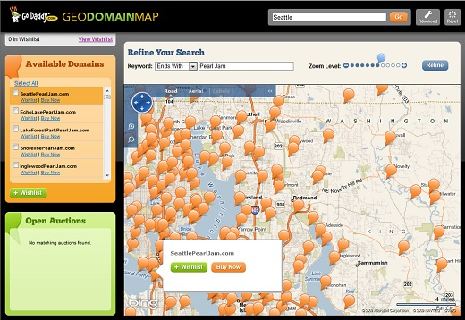 Check Domain Availability Using Go Daddy's GeoDomainMap