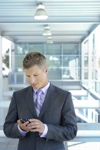 Man in gray suit cell