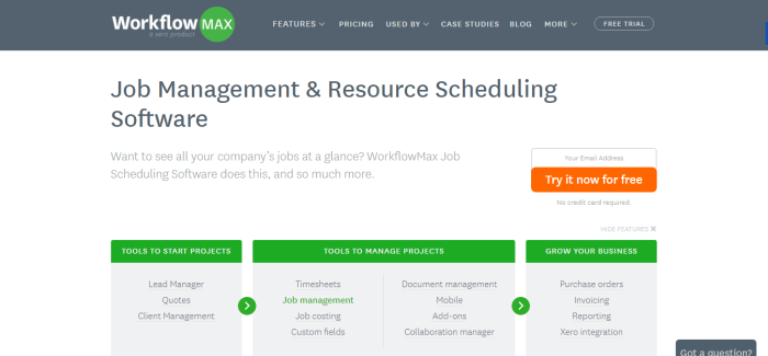Job Management and Scheduling Software WorkflowMax