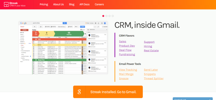 Streak CRM in your Inbox