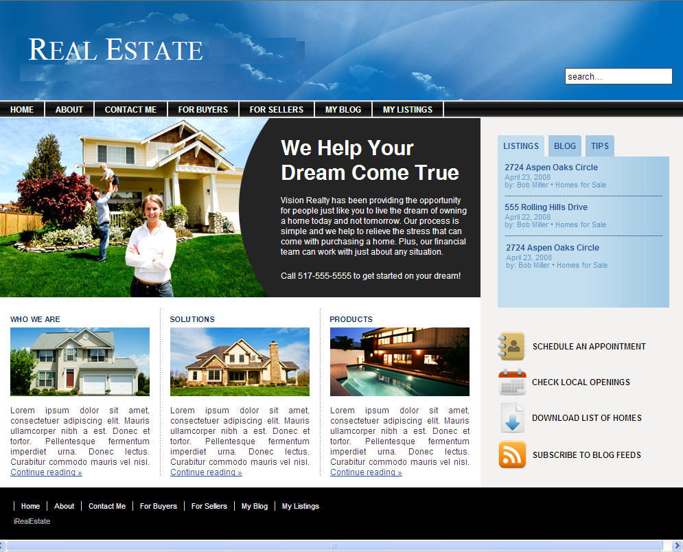 Best real estate home page design gallery decoration design ideas - Website for home design ...