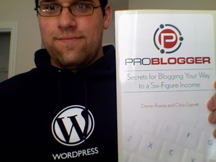 WordPress Shirt and Problogger Book